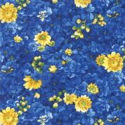 Moda - Summer Breeze 2019 - 7079 - Small Dark Blue Floral - 33442 17 - Cotton Fabric